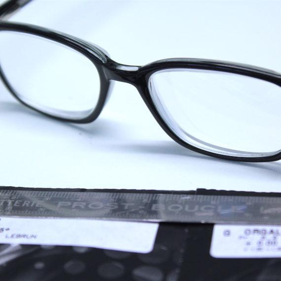 Montage plan +3.50 115° prisme intégré 6D base nasale en cr39