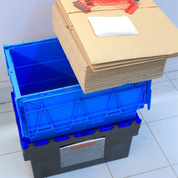 Nouveau système logistique. Kit offert pour faciliter les envois.