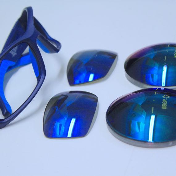 Lunettes sport Julbo à la vue pour un porteur myope (verre en indice 1.5).