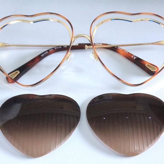 Monture lunettes Chloé forme coeur 0.50(1.50) en 1.6.